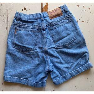 vintage : Gitano : high rise cuffed denim shorts